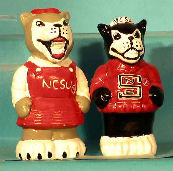 North Carolina State Wolf Pack Mascot Salt & Pepper Shakers