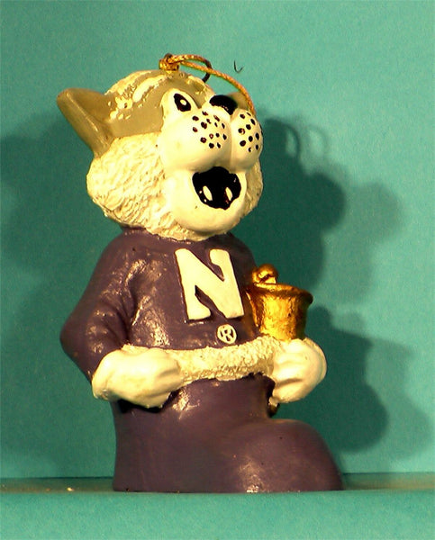 Northwestern Wildcats NCAA Mascot Christmas Ornament '00