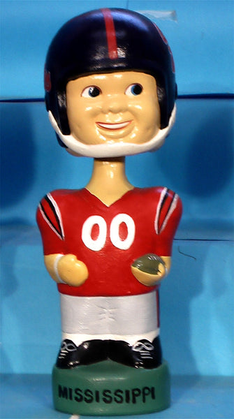 Ole Miss Runnin Rebels       Football Bobblehead Twins Inc