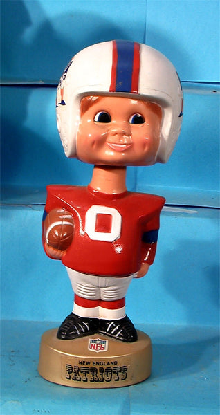 New England Patriots  70's Plastic NFL football Bobblehead