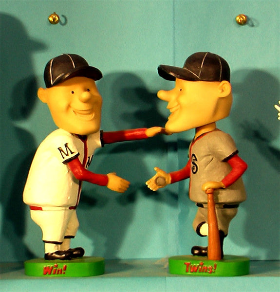 Paul and Minnie Minnesota Twins Bobblehead