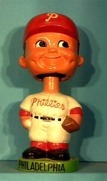 Vintage Philadelphia Phillies green Base  bobblehead ball and glove