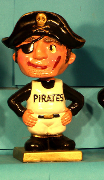 Vintage Pittsburgh Pirates gold square base  Mascot bobblehead