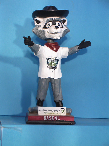 Quad Cities River Bandits Masco Rascal bobblehead