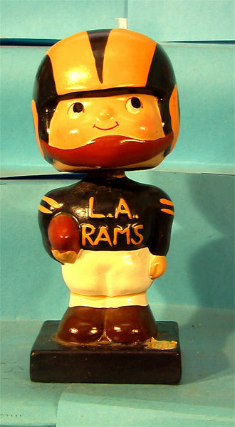 Vintage Los Angeles Rams Square Base Bobblehead