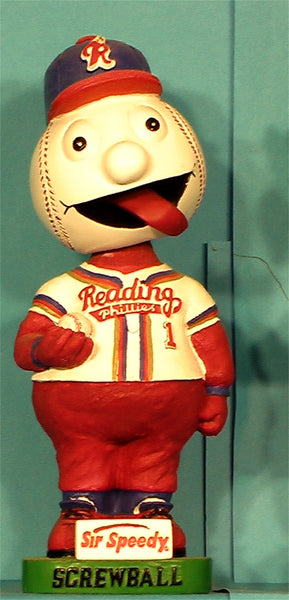 Reading Phillies Mascot Screwball bobblehead