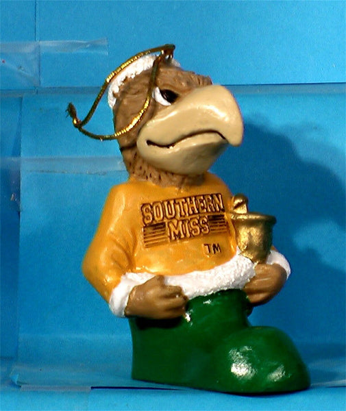 Southern Mississippi Golden Eagles '00 NCAA Mascot Christmas Ornament