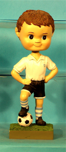 Paintable Soccer Boy Bobblehead  (case of 24)