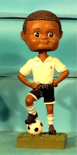 Soccer Boy African-American Paintable Bobblehead