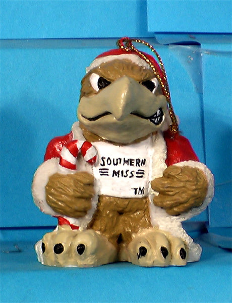 Southern Mississippi Golden Eagles '99 NCAA Mascot Christmas Ornament
