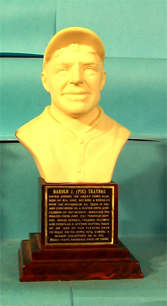 Harold Pie Traynor Hall of Fame bust