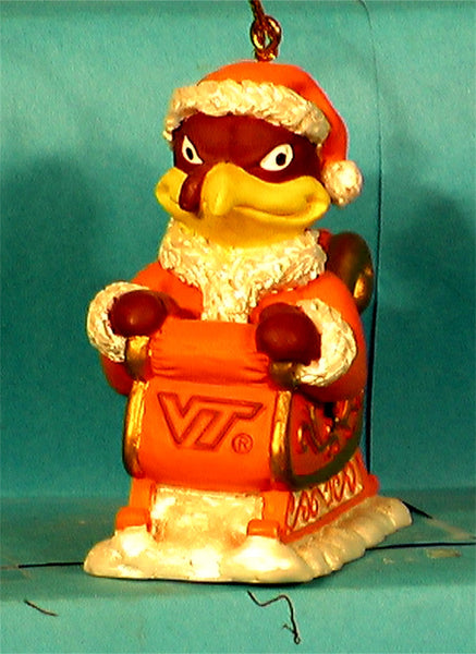 Virginia Tech Hokie '01  NCAA Mascot Christmas Ornament