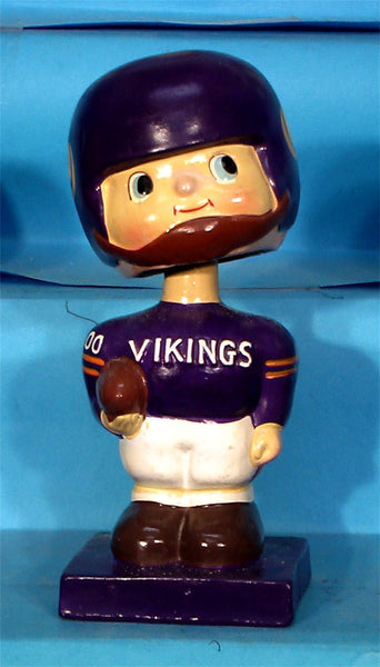 Vintage Minnesota Vikings Square Base Bobblehead