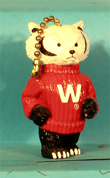 Wisconsin Badgers Mascot Chain Pull