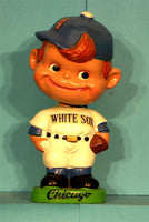 Vintage Chicago White Sox green base curly hair bobblehead