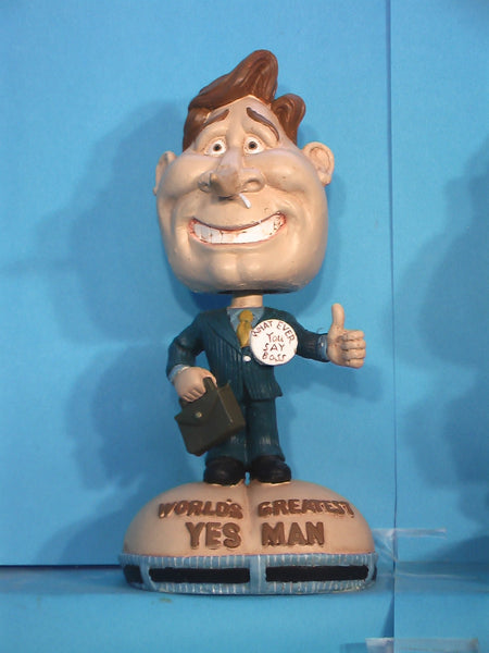Worlds Greatest Yes Man bobblehead