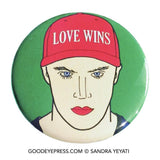 Love Wins LGBTQ Pride Pinback Button - Good Eye Press