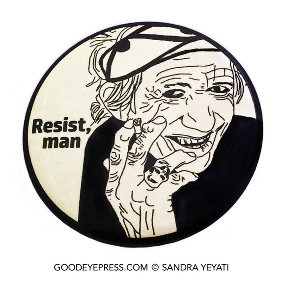 Keith Richards | Rolling Stones Resistance Pinback Button - Good Eye Press