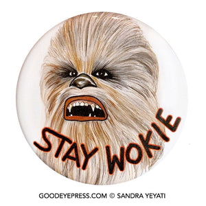 Chewbacca Star Wars Pinback Button - Good Eye Press