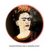 Frida Kahlo Artist Pinback Button - Full Color - Good Eye Press
