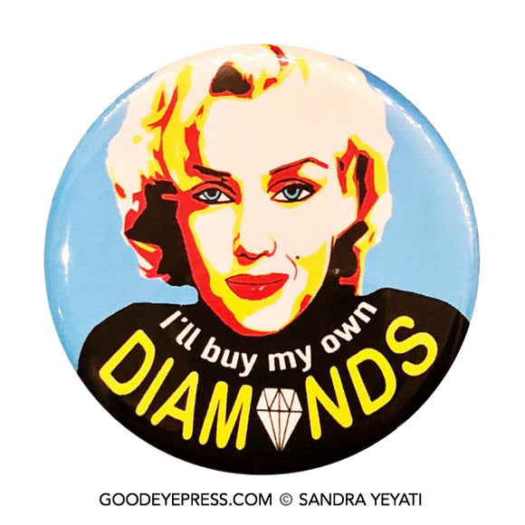 Marilyn Monroe feminism pin good eye press