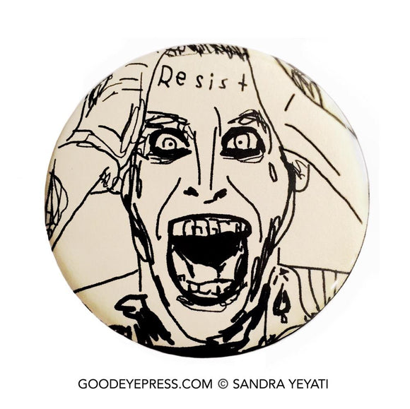 Joker Resist Pinback Button - Good Eye Press
