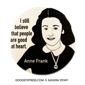 Anne Frank Pinback Button - Good Eye Press