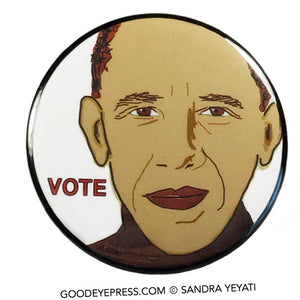 Barack Obama Vote Pinback Button - Good Eye Press