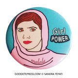 Malala Yousafzai Girl Power Pinback Button - Good Eye Press