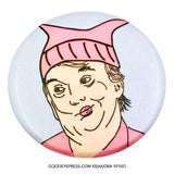 Pussyhat POTUS Trump Political Protest Pinback Button - Good Eye Press