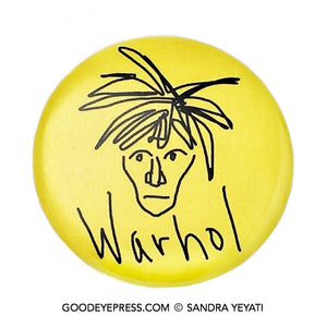 Andy Warhol Pop Art Pinback Button - Good Eye Press