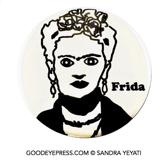 Frida Kahlo Artist Pin - One Color - Good Eye Press