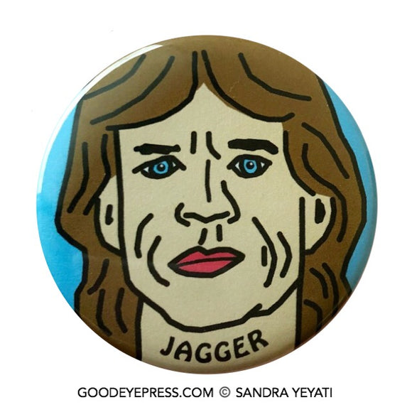 Mick Jagger | Rolling Stones Pinback Button - Good Eye Press