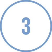 Circle Icon with the number 3