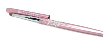 Light Pink Angled One-Stroke Brush With Lid
