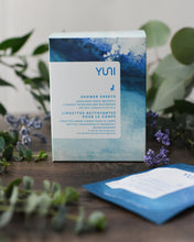 Load image into Gallery viewer, YUNI Shower Sheets Large natural biodegradable Body Wipes - Box of 12