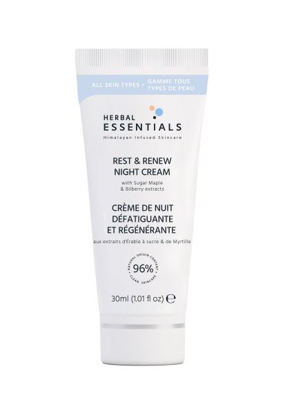 HERBAL ESSENTIALS Rest and Renew Night Cream 30ml Deluxe Size