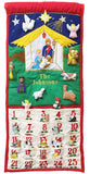"Traditional Nativity Advent Calendar with ""Family Name"""