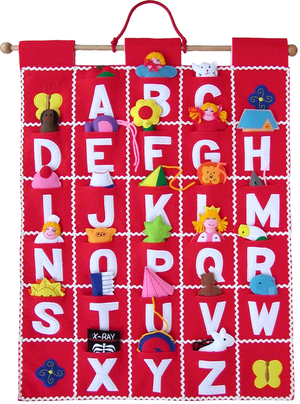 ABC Wall Hanging (Red) - My Growing Season
