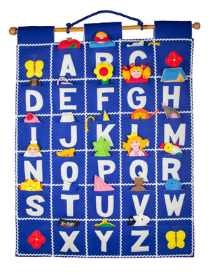ABC Wall Hanging (Blue)