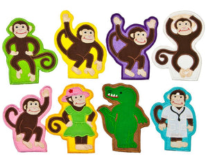 Five Little Monkeys Finger Puppets - My Growing Season