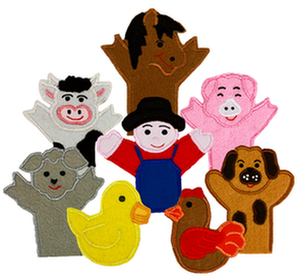 Old MacDonald Finger Puppets - My Growing Season