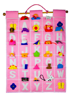ABC Wall Hanging (Pink) - My Growing Season