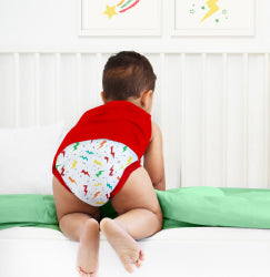 Four potty training pants with safari prints
