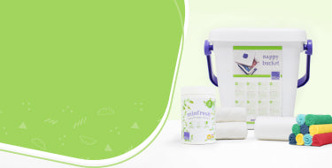 Nappy changing accessories page banner showing the range of accessories