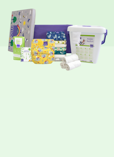 Banner showing the perfect reusable nappy starter set