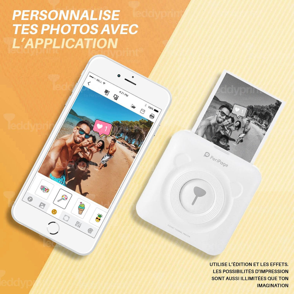 PerriPage® Imprimante Portable HD