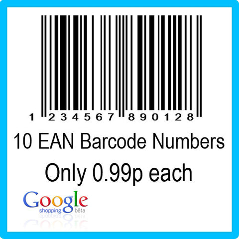 10 Google Shopping EAN UPC Barcode Numbers