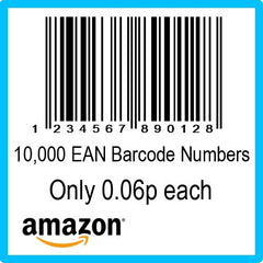 10000 Amazon EAN UPC Barcode Numbers