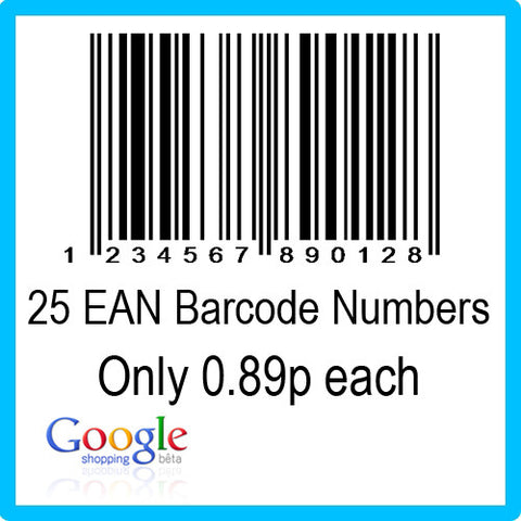 25 Google Shopping EAN UPC Barcode Numbers